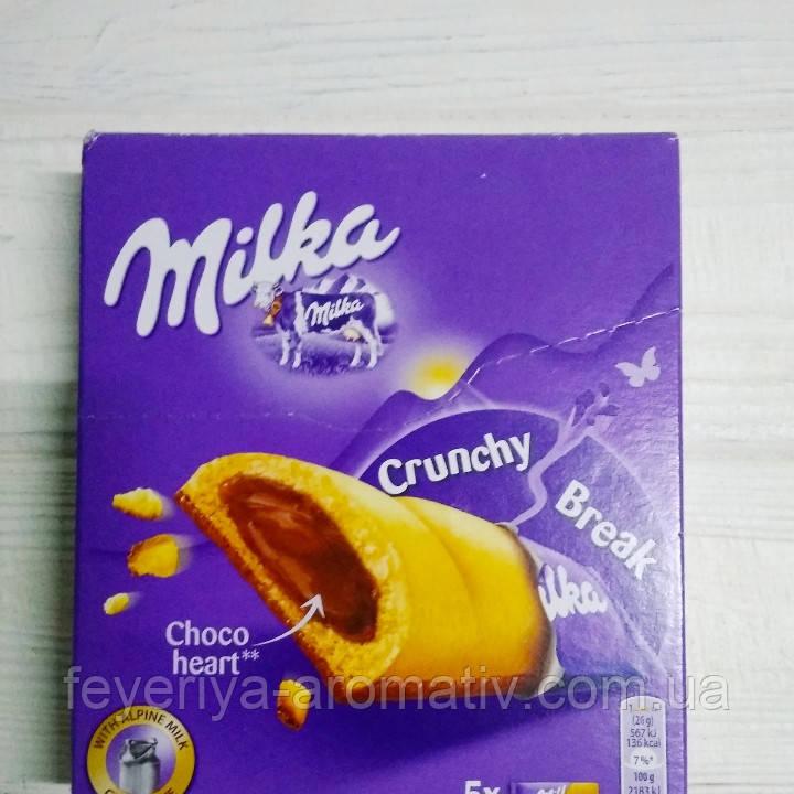 Батончик с шоколадной начинкой Milka Crunchy Break 5шт (Швейцария)