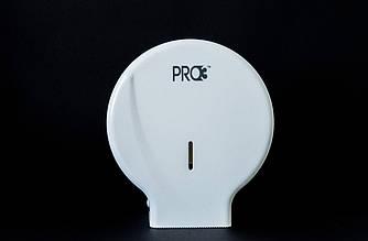 Диспенсер пластиковый белый для туалетной бумаги Джамбо 75 - 150м, PRO3