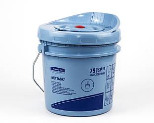 Диспенсер пластиковый голубой, для дезинфицирующих салфеток в рулонных Wettask