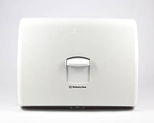 Диспенсер пластиковый белый для бумажных накладок на унитаз, Kimberly-Clark
