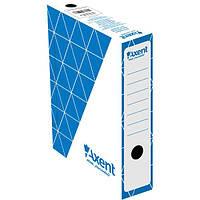 Бокс для архивации документов Axent 150 мм синий