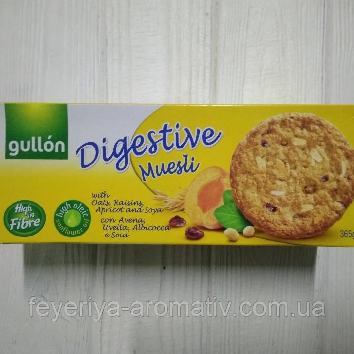 Овсяное печенье с курагой и орехами Gullon Digestive Muesli 365гр (Испания)