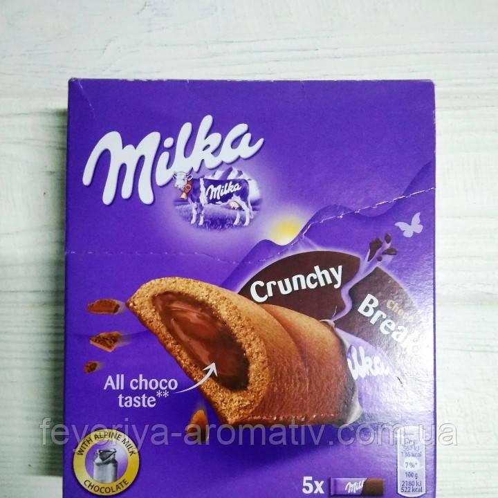 Шоколадный батончик с шоколадной начинкой Milka Crunchy Choco Break 5шт (Швейцария)