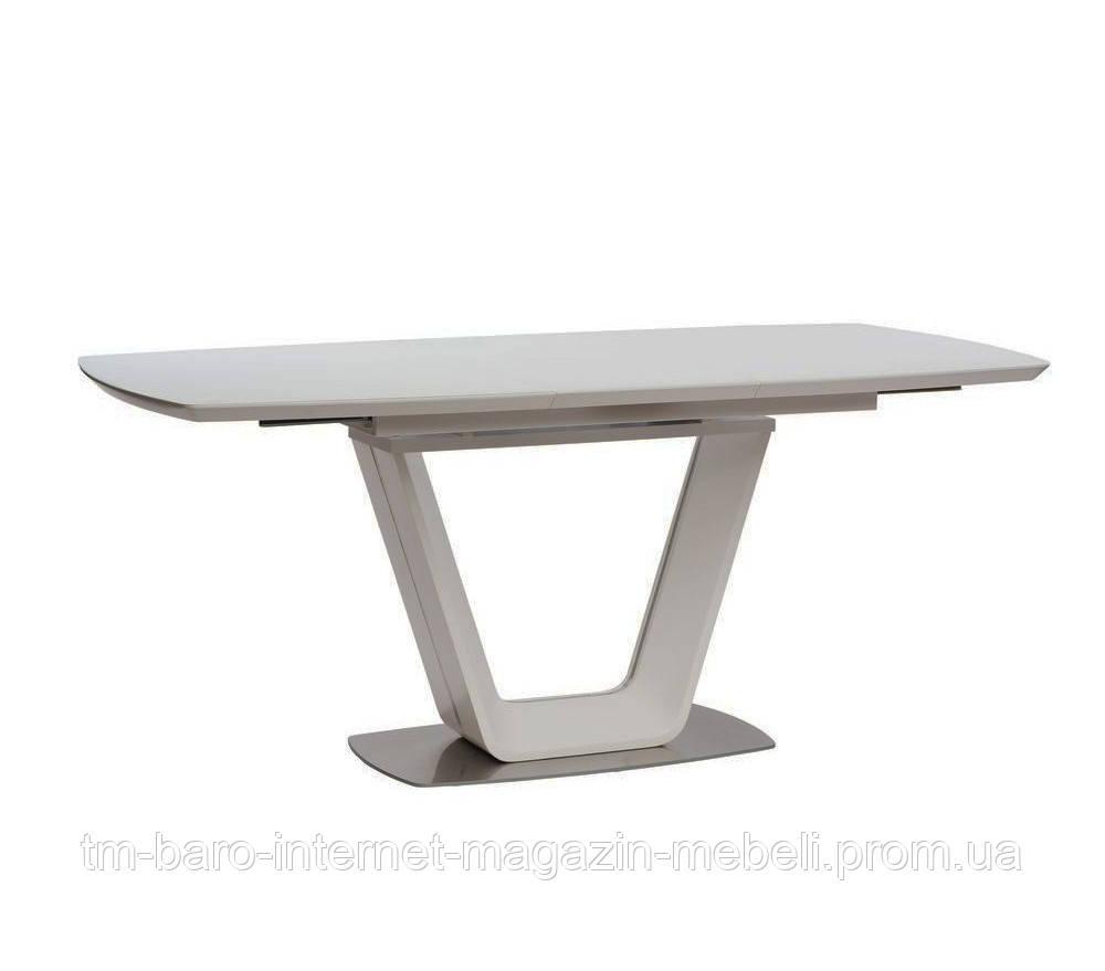 Стол обеденный Глостер белый (Gloucester) матовое стекло+МДФ 140-180, Concepto