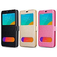Кожаный чехол книжка Classic для Samsung Galaxy J7 Neo J701 два окна (Разные цвета)