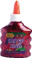 Клей ГЛИТТЕР (для слаймов) красный на pva-основе, прозрачный, 88 мл zb.6116-05
