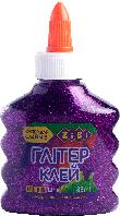 Клей глиттер для слаймов zibi zb.6116-07 фиолетовый на pva-основе прозрачный 88 мл