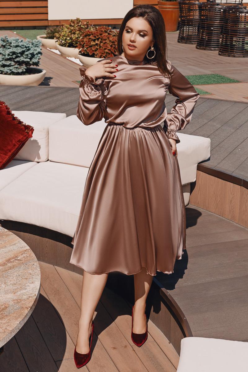 Платье LiLove 703 56-58 мокко