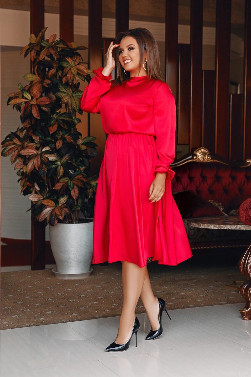 Платье LiLove 703-1 52-54 красный