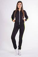 Спорт костюм женский черно-салатовый, фото 1