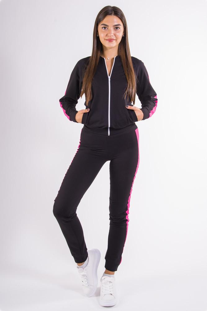 Спорт костюм женский черно-малиновый
