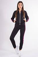 Спорт костюм женский черно-малиновый, фото 1
