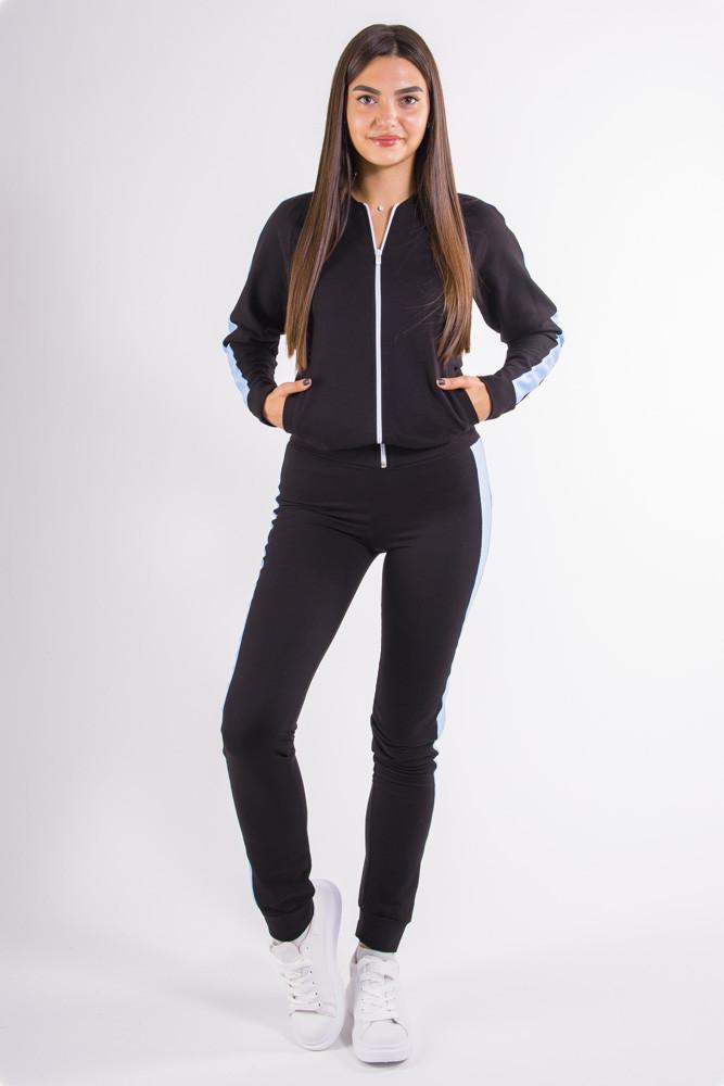 Спорт костюм женский черно-голубой
