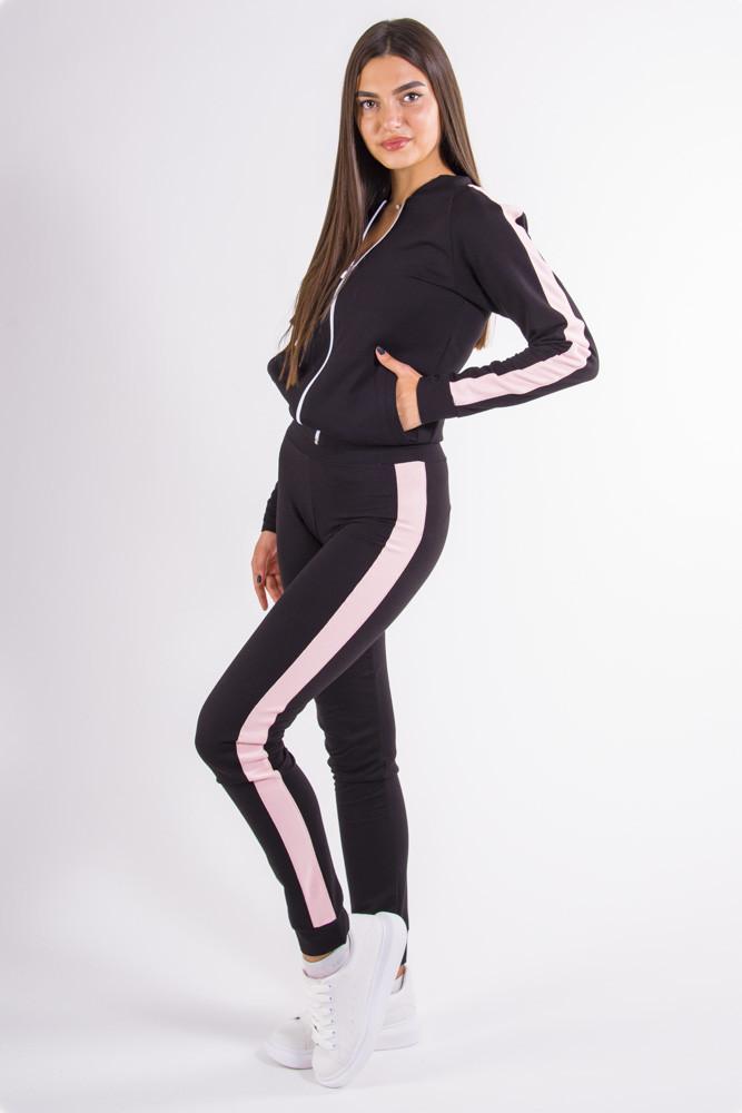 Спорт костюм женский черно-бежевый