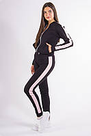 Спорт костюм женский черно-бежевый, фото 1