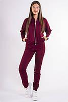 Бордовый женский спортивный костюм, фото 1