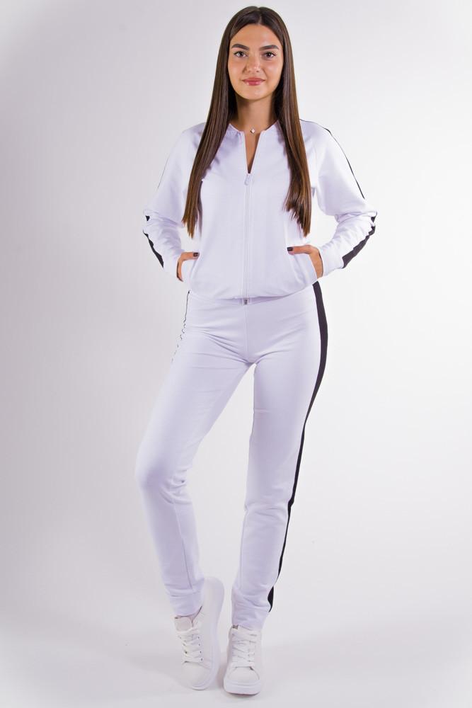 Спорт костюм женский бело-черный