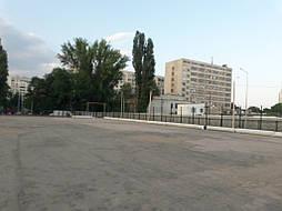 Укладка синтетической травы на школьном стадионе, г. Одесса 1