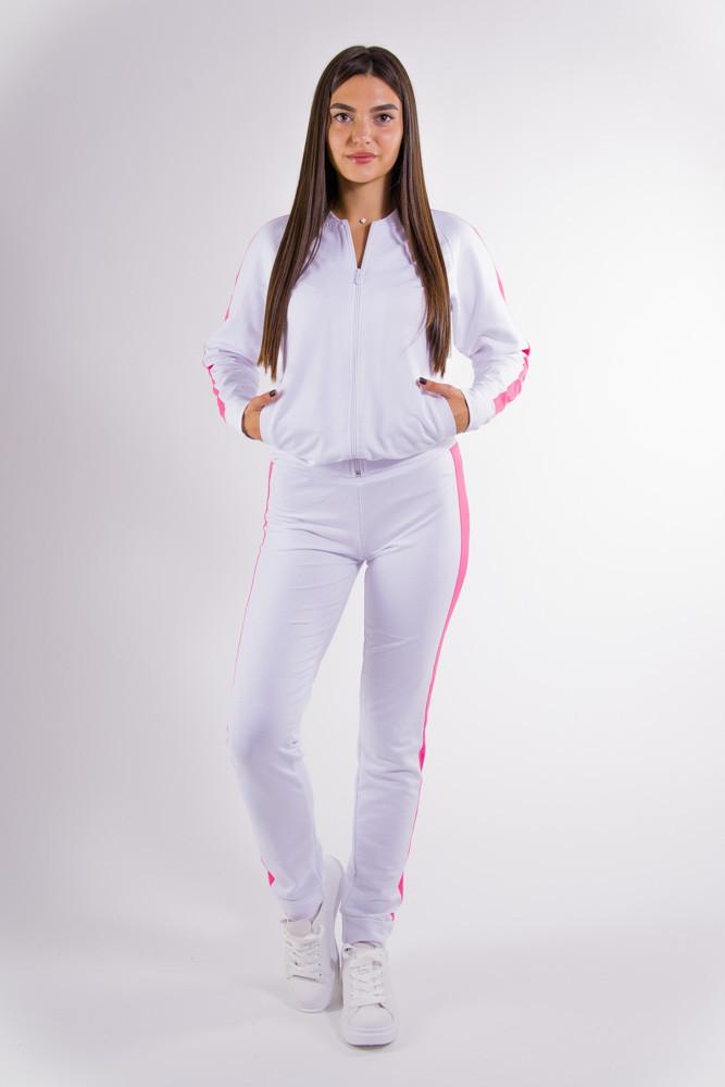 Спорт костюм женский бело-розовый