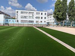 Укладка синтетической травы на школьном стадионе, г. Одесса 3