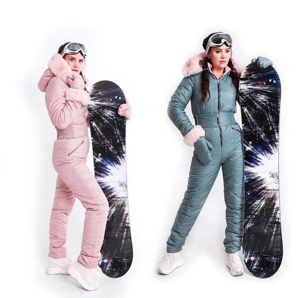 Зимний горнолыжный женский комбинезон двусторонний XS-XL