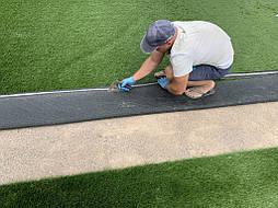 Укладка синтетической травы на школьном стадионе, г. Одесса 5