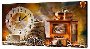 Настенные часы на ткани 24х44 см