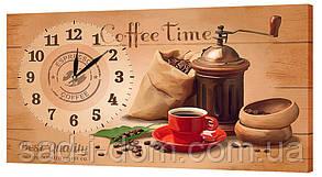 Настенные часы на ткани 24х44