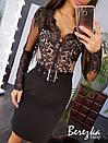 Женская юбка - карандаш из костюмки с поясом 66jus298Е, фото 4