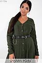 Вельветовое платье большого размера длиной миди с расклешенной юбкой 1blr237, фото 9