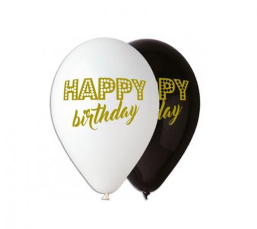 "Шарик латексный 12"" ""Happy Birthday"" (100 штук)  sct"