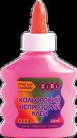 Розовый непрозрачный клей для слаймов zibi zb.6113-10 на pva-основе 88 мл