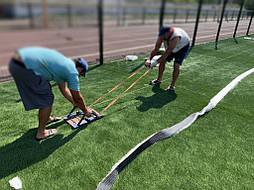 Укладка синтетической травы на школьном стадионе, г. Одесса 11