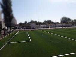 Укладка синтетической травы на школьном стадионе, г. Одесса 13