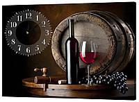 Настенные часы на ткани 53х72
