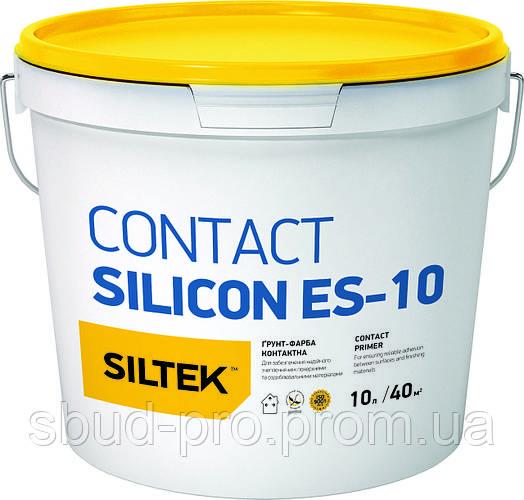 Грунт-краска контактная силиконовая Contact Silicat ES-10 Siltek база ЕА (10л)