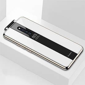 Чехол накладка для Vivo X27 Pro с поверхностью из закаленного стекла, Stylish, белый