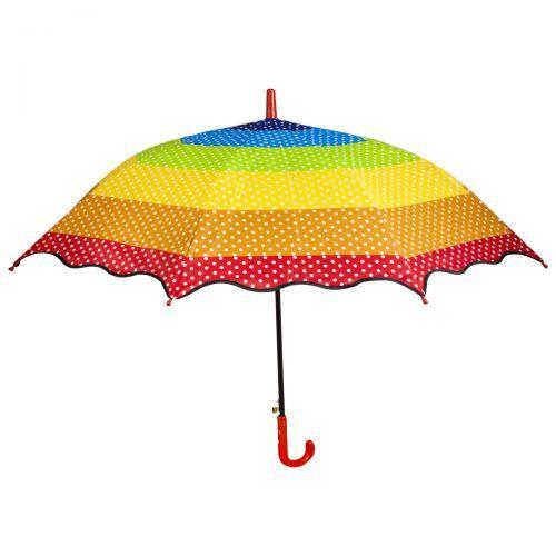 """Зонт """"Радуга"""" с красной ручкой F17808 sco"""
