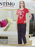 Трикотажный домашний костюм( пижама) для женщин Морской Intimo (7571). Р-р 48.