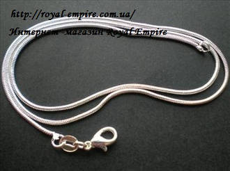 """Цепочка """"Стайл"""" покрытие серебро 925 проба, 45-46 см."""