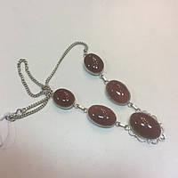 Сердолик ожерелье натуральный сердолик колье с сердоликом в серебре Индия!, фото 1