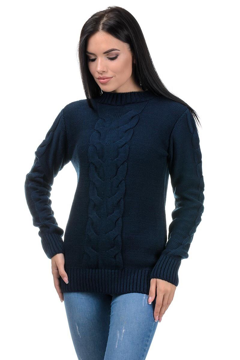 Повседневный женский свитер теплый 44-46 (в расцветках)