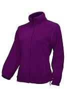 Женская фиолетовая флиска. Флисовый реглан на молнии