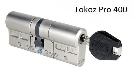 Циллиндр TOKOZ PRO 400 100мм (45*55) матовый никель