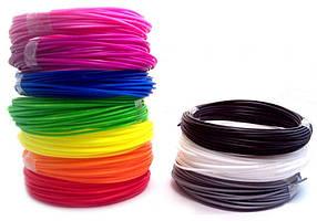 Набор ПЛА PLA пластика для 3D ручки 3Doodler 10 цветов на 30 метров