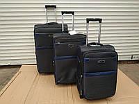"""Набор чемоданов Three birds 20"""",23"""",26"""" с расширением (3шт) на 2-х колесах, набір валізи (синий), фото 1"""