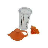 Шейкер-поилка пластик с насадкой для сока и отделения желтка 300мл N01237