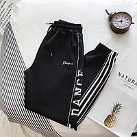 Женские спортивные штаны на манжетах с лампасами 68msp736, фото 1
