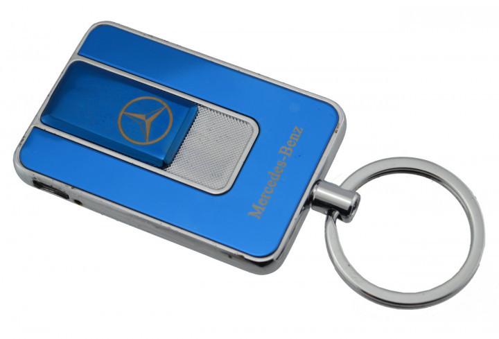 Спиральная электрическая USB зажигалка UKC 811 Mercedes Benz синий