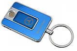 Спиральная электрическая USB зажигалка UKC 811 Mercedes Benz синий, фото 2